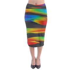 Colorful Background Midi Pencil Skirt