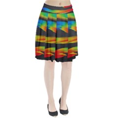 Colorful Background Pleated Skirt