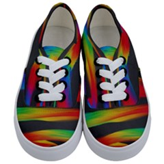 Colorful Background Kids  Classic Low Top Sneakers