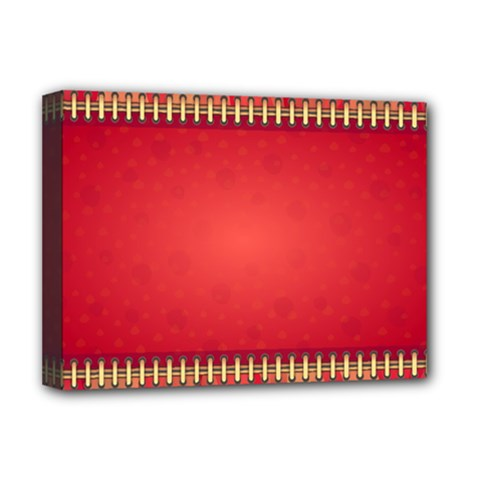 Background Red Abstract Deluxe Canvas 16  X 12