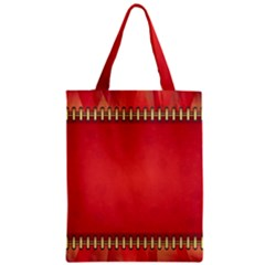 Background Red Abstract Zipper Classic Tote Bag