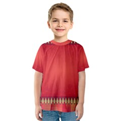 Background Red Abstract Kids  Sport Mesh Tee