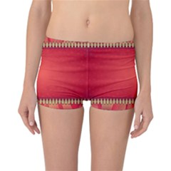 Background Red Abstract Reversible Boyleg Bikini Bottoms