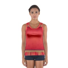 Background Red Abstract Sport Tank Top