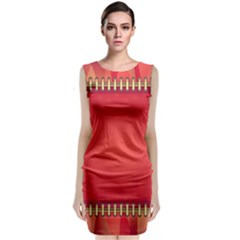Background Red Abstract Classic Sleeveless Midi Dress