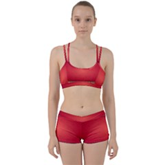 Background Red Abstract Women s Sports Set
