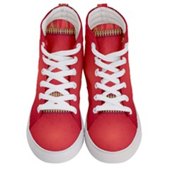 Background Red Abstract Women s Hi Top Skate Sneakers