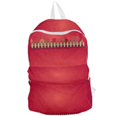 Background Red Abstract Foldable Lightweight Backpack