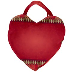 Background Red Abstract Giant Heart Shaped Tote