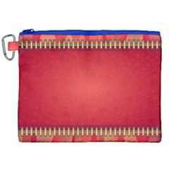 Background Red Abstract Canvas Cosmetic Bag (xxl)