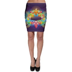 Badge Abstract Abstract Design Bodycon Skirt