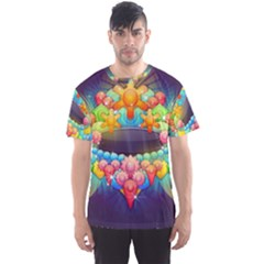 Badge Abstract Abstract Design Men s Sports Mesh Tee