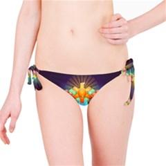 Badge Abstract Abstract Design Bikini Bottom