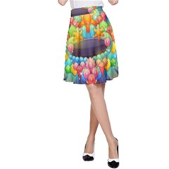 Badge Abstract Abstract Design A Line Skirt