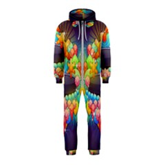 Badge Abstract Abstract Design Hooded Jumpsuit (kids)