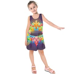 Badge Abstract Abstract Design Kids  Sleeveless Dress