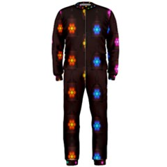 Lanterns Background Lamps Light Onepiece Jumpsuit (men)
