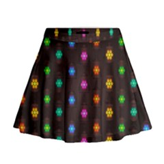 Lanterns Background Lamps Light Mini Flare Skirt