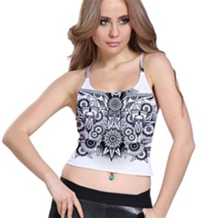 Forest Patrol Tribal Abstract Spaghetti Strap Bra Top