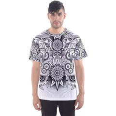 Forest Patrol Tribal Abstract Men s Sports Mesh Tee