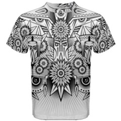 Forest Patrol Tribal Abstract Men s Cotton Tee