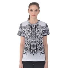 Forest Patrol Tribal Abstract Women s Cotton Tee