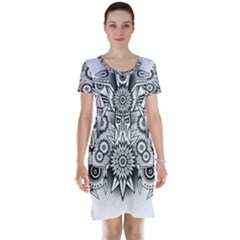 Forest Patrol Tribal Abstract Short Sleeve Nightdress