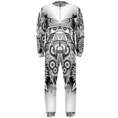 Forest Patrol Tribal Abstract Onepiece Jumpsuit (men)