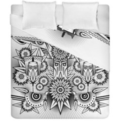 Forest Patrol Tribal Abstract Duvet Cover Double Side (california King Size)
