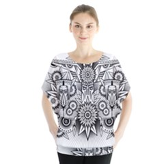 Forest Patrol Tribal Abstract Blouse
