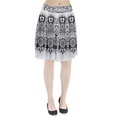 Forest Patrol Tribal Abstract Pleated Skirt