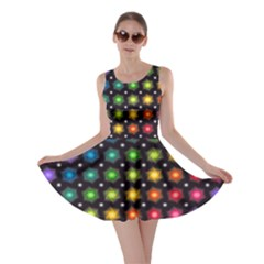 Background Colorful Geometric Skater Dress