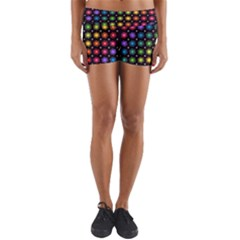 Background Colorful Geometric Yoga Shorts