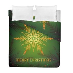 Christmas Snowflake Card E Card Duvet Cover Double Side (full/ Double Size)