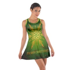 Christmas Snowflake Card E Card Cotton Racerback Dress