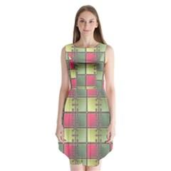 Seamless Pattern Seamless Design Sleeveless Chiffon Dress