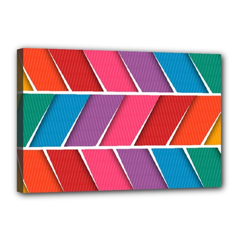 Abstract Background Colorful Canvas 18  X 12