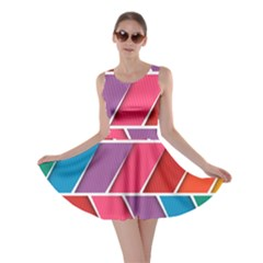 Abstract Background Colorful Skater Dress