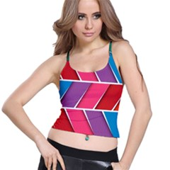 Abstract Background Colorful Spaghetti Strap Bra Top