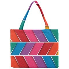 Abstract Background Colorful Mini Tote Bag