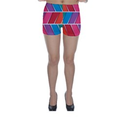 Abstract Background Colorful Skinny Shorts