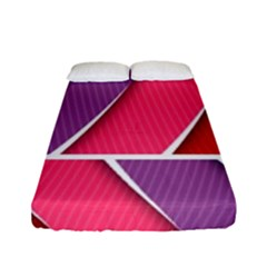 Abstract Background Colorful Fitted Sheet (full/ Double Size)