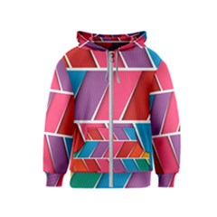 Abstract Background Colorful Kids  Zipper Hoodie