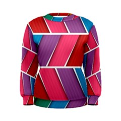 Abstract Background Colorful Women s Sweatshirt
