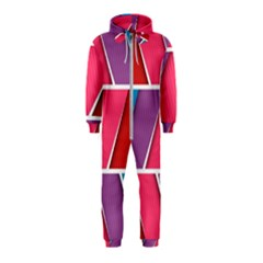 Abstract Background Colorful Hooded Jumpsuit (kids)