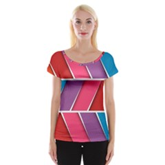 Abstract Background Colorful Cap Sleeve Tops