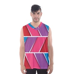 Abstract Background Colorful Men s Basketball Tank Top