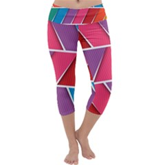 Abstract Background Colorful Capri Yoga Leggings