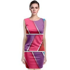 Abstract Background Colorful Classic Sleeveless Midi Dress