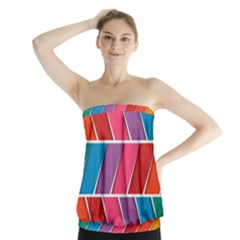 Abstract Background Colorful Strapless Top